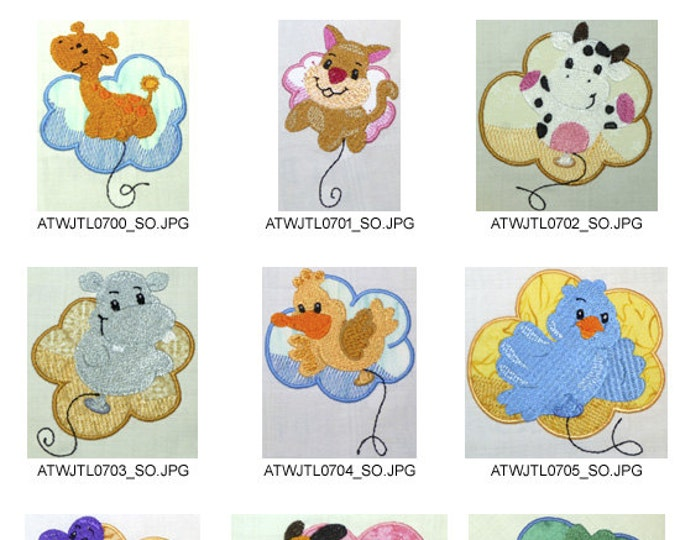Balloon-Critters-2-Applique ( 10 Machine Embroidery Designs from ATW )