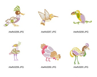 Native-Birds ( 10 Machine Embroidery Designs from ATW )
