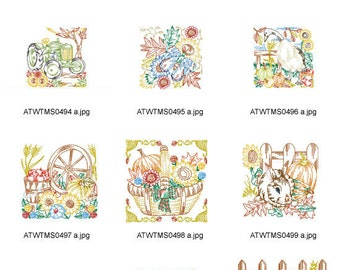Fall-Multiline-Blocks-5x7 ( 12 Machine Embroidery Designs from ATW ) XYZ17C