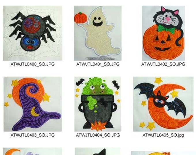 Halloween-Story-Applique ( 10 Machine Embroidery Designs from ATW ) XYZ17B
