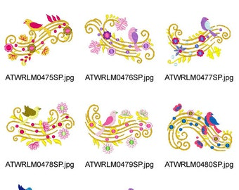 Music-on-The-Air ( 10 Machine Embroidery Designs from ATW ) XYZ17B