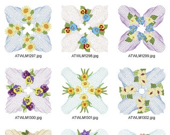 New-Floral-Style ( 10 Machine Embroidery Designs from ATW )