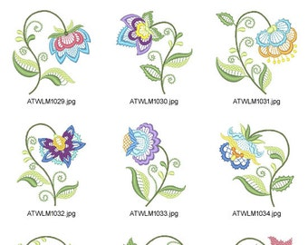 Jacobean-Floral-Lace. ( 10 Machine Embroidery Designs from ATW )