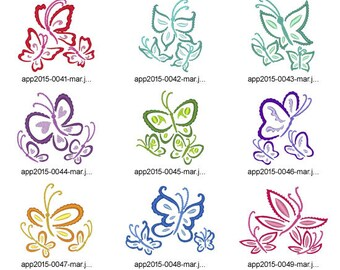 Outline-Butterflies ( 10 Machine Embroidery Designs from ATW )