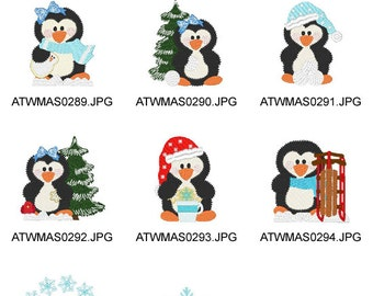 Winter-Frolic-Penguins ( 14 Machine Embroidery Designs from ATW ) XYZ17B