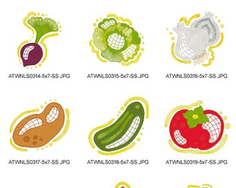 Little-Vegetables ( 10 Machine Embroidery Designs from ATW )