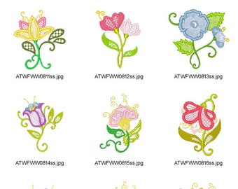 Colorlace-Flowers. ( 12 Machine Embroidery Designs from ATW )