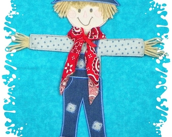 "13"" tall Scarecrow Project ( 6"" x 9"" or larger hoop required ) from ATW"