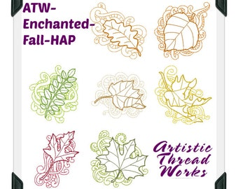 Enchanted-Fall ( 7 Machine Embroidery Designs from ATW )