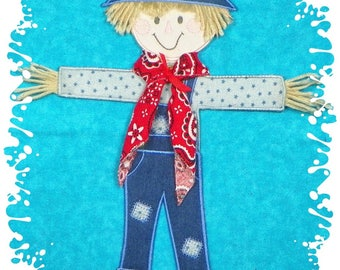 """13"""" tall Scarecrow Project ( 6"""" x 9"""" or larger hoop required ) from ATW"""