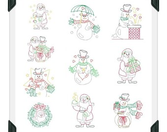 Christmas-Lines ( 10 Machine Embroidery Designs from ATW )