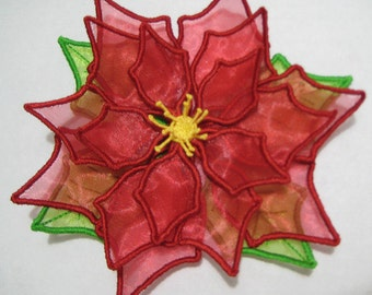 Free Standling Applique 3D Flower Project #396 ( Machine Embroidery Design from ATW )