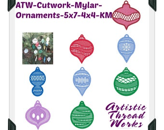 Cutwork-Mylar-Ornaments-5x7-4x4-KM ( 6 Machine Embroidery Designs from ATW )