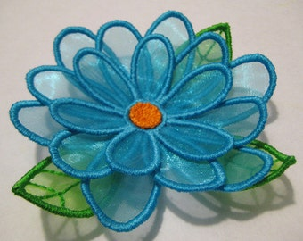 Free Standling Applique 3D Flower Project #388 ( Machine Embroidery Design from ATW )