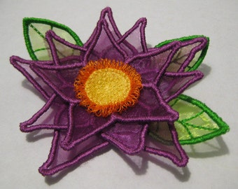 Free Standling Applique 3D Flower Project #390 ( Machine Embroidery Design from ATW )