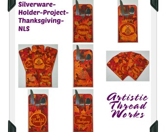 Silverware-Holder-Project ( 5 Machine Embroidery Designs from ATW )