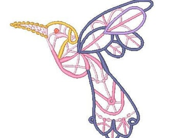 FSL Hummingbirds  (10 Machine Embroidery Designs from ATW )