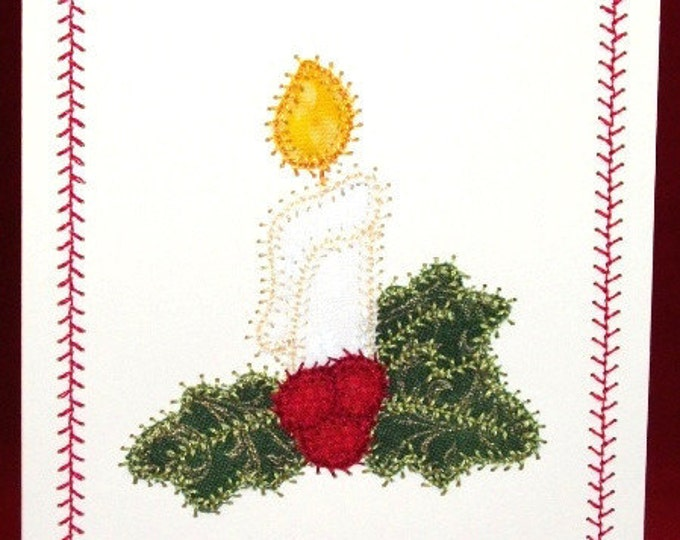 Applique Christmas Note Cards  ( 10 Machine Embroidery Designs from ATW )