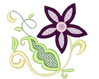 Jacobean Florals  ( 10 Machine Embroidery Designs from ATW )