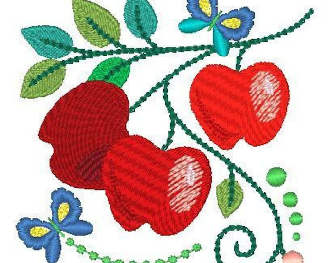 Jacobean Apples  ( 18 Machine Embroidery Designs from ATW )