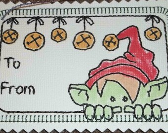 Christmas Gift Tags Project and Designs   ( 8 Machine Embroidery Designs from ATW )