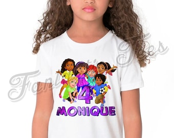 Dora And Friends Birthday Shirt Add Name Age The Explorer Custom Party TShirt A