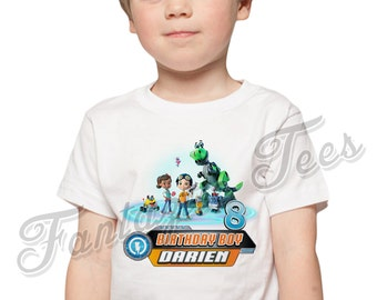 Rusty Rivets Birthday Shirt Add Name & Age Rusty Custom Birthday Party TShirt 01