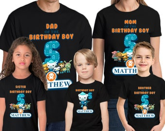 Octanauts Birthday Shirt Add Name & Age Octanauts Custom Birthday Party T-Shirt