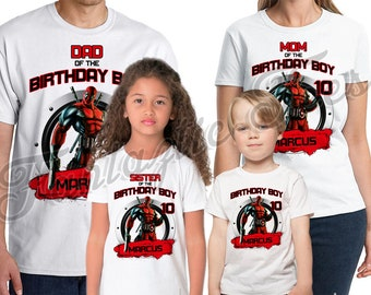 Deadpool Birthday Shirt Add Name & Age Deadpool Personalized Birthday Party Shirt
