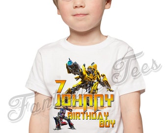 Transformers Birthday Shirt Add Name & Age Transformers Custom Birthday Party TShirt B
