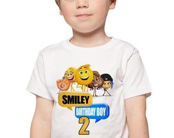 The Emoji Movie Birthday Shirt Emoji Movie Personalize Birthday Party Shirt Add Custom Name & Age Party favors