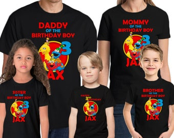Sesame Street Birthday Shirt Add Name & Age Sesame Street Personalized Birthday Party T-Shirt
