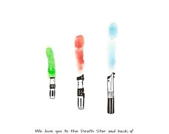 Download Version - Star Wars Lightsaber Fingerprint Gift Print