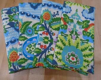 Cloth Napkins,  Dinner Napkins,  Set of 4 Napkins,  Everyday Napkins,  Eco,  Washable,  Cotton Napkins,  Large Cloth Napkins,  Blue Napkins