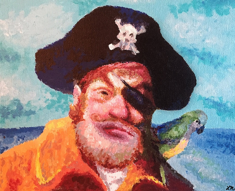 Spongebob Squarepants Pirate Print Etsy