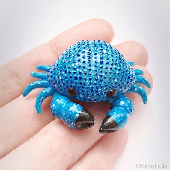 Crab Ornament Decoration Crafts Vintage Copper Animal Miniature Statue