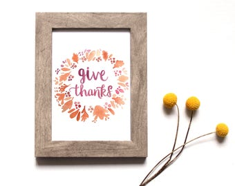 FALL wall decor, Wreath print, Wall art, Watercolor art, California art, Fall decor, Home gift, Seasonal, Renewed Daily, rustic home art,