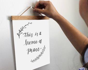 8x10 Calligraphy art print, wreath print, California print, Country home art, Modern Calligraphy, Wedding Favor, Wedding Guest Gift