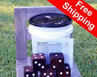 FREE SHIPPING! Stained Yardzee - Giant Yahtzee