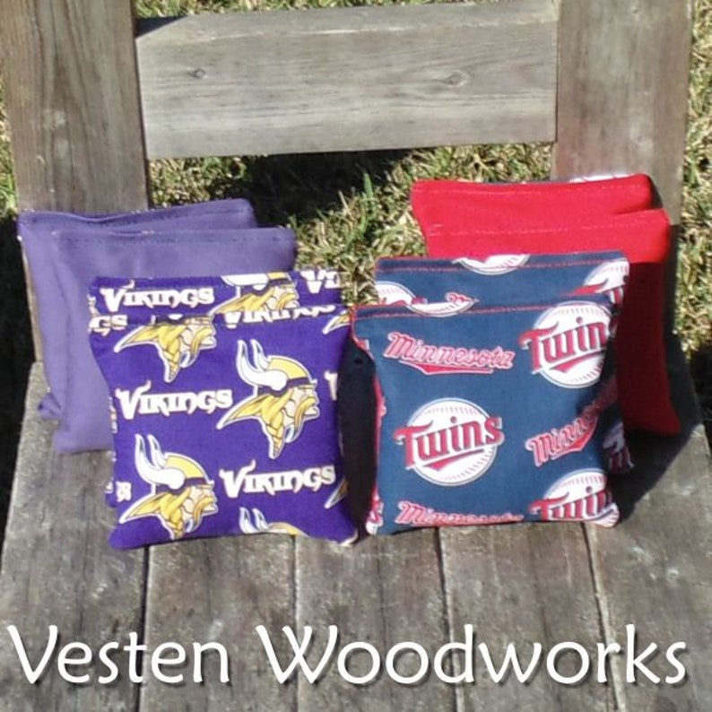 FREE SHIPPING Minnesota Vikings  Twins set of 8 corn hole bags 6 regulation size! top notch quality