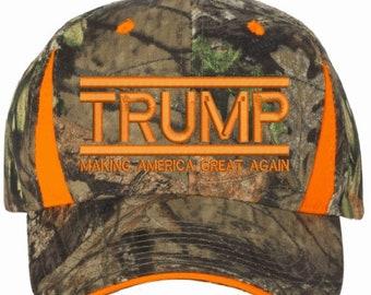 9dd440ac26b90 TRUMP 2020 Make America Great Again Mossy Oak Country Blaze Embroidered HAT