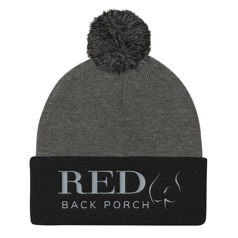 BDSM and Adult Spanking YouTube Merch Red Back Porch Poof Ball Knit Cap Mature