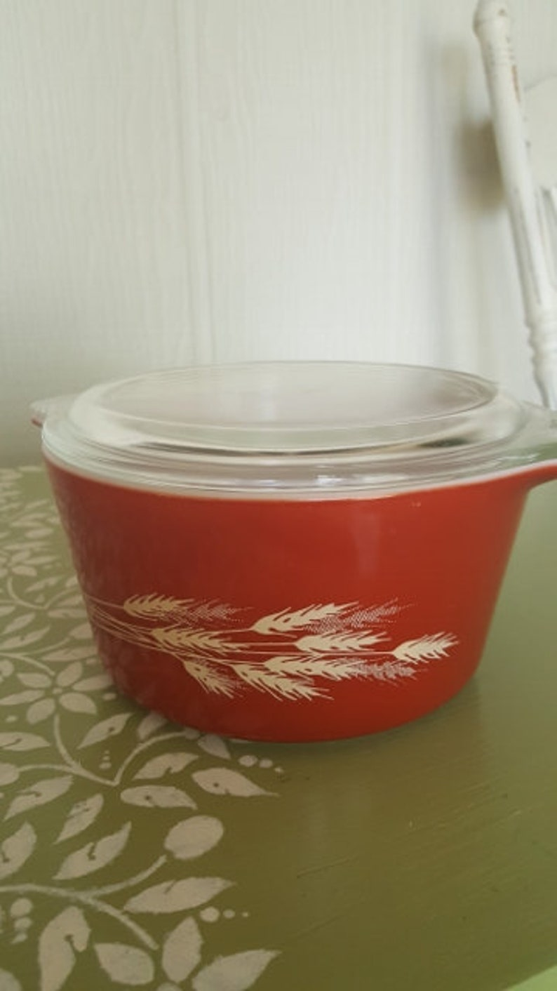 covered casserole cottage modern farmhouse cookware vintage pyrex Pyrex covered dish pyrex with lid gift for cook Autumn Harvest