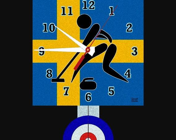 Curling Clock with Pendulum • Sweden Curling • Curling Team