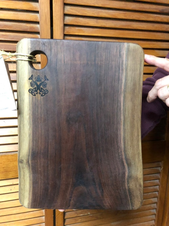 Charcuterie Board, Black Walnut Natural Edge Slab