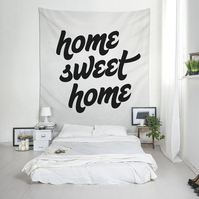 Home Sweet Home Wall Tapestry Fabric Hanging For Home Etsy