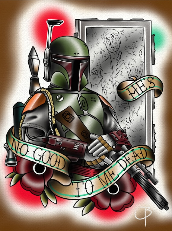 Boba Fett Star Wars Episode V The Empire Strikes Back Etsy