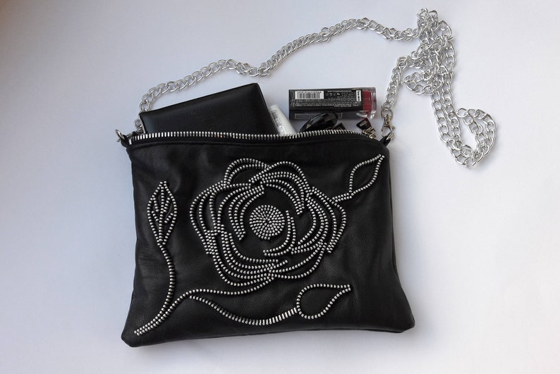 Leather evening bag Small leather clutch Black leather clutch Evening handbag Black women clutch Evening clutch Black evening bag