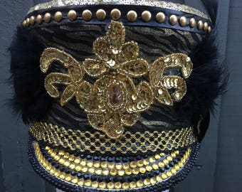Gold and Black Marching Hat