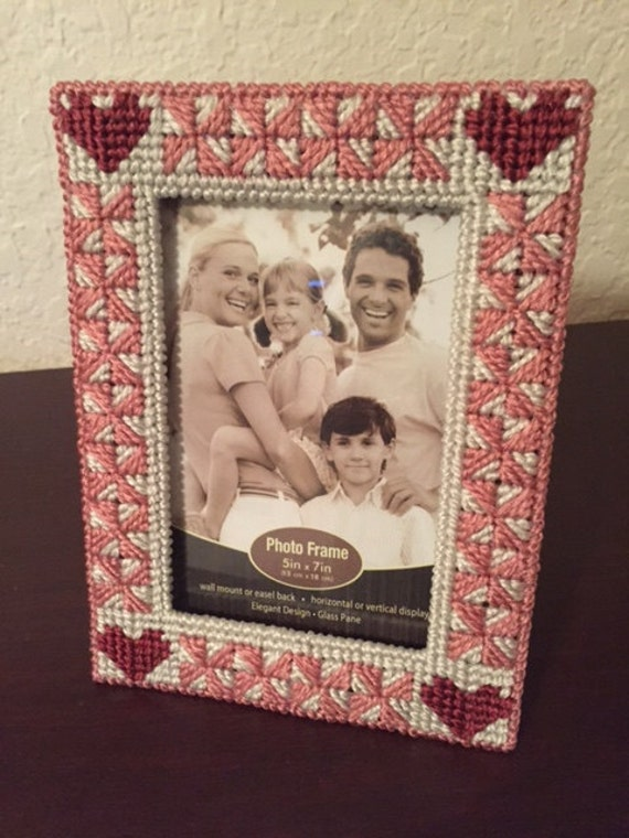 Heart Picture Frame Plastic Canvas Pattern Digital